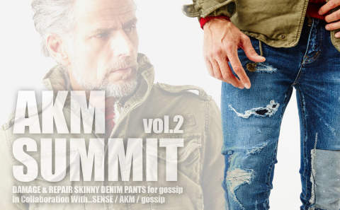 【AKM SUMMIT vol.2】  DAMAGE & REPAIR SKINNY DENIM PANTS