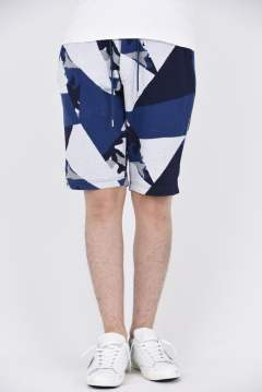 jacquard patchwork shorts