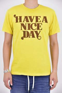 crew neck t-shirts (HAVE A NICE DAYS)