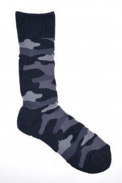 camo pile socks (high)