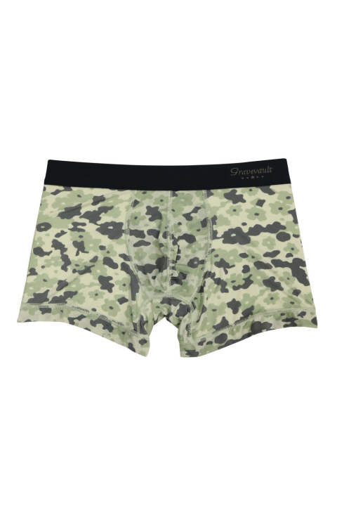 Flower Camou Short Boxer - アッシュグレー