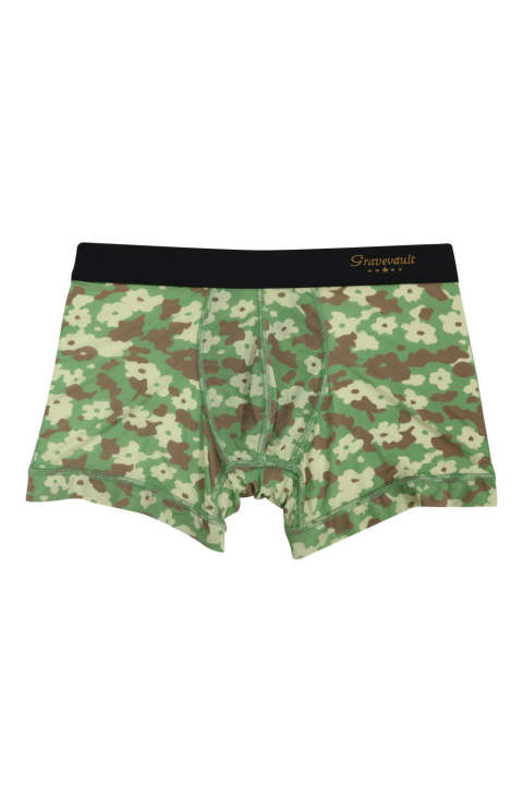 Flower Camou Short Boxer - ワイルドグリーン