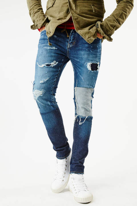 《AKM SUMMIT vol.2 / 別注》  DAMAGE & REPAIR SKINNY DENIM PANTS『SENSE9月号P173掲載』