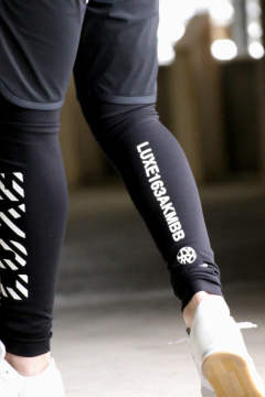 《CONCEPT STORE 別注》 LUXSPO LEGGINGS MIDDLE TYPE A / レギンス タイプA ブラック×ホワイト