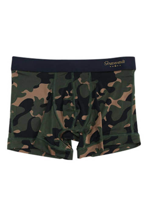 《残り一点》 STEALTH CAMO Short Boxer - カーキ