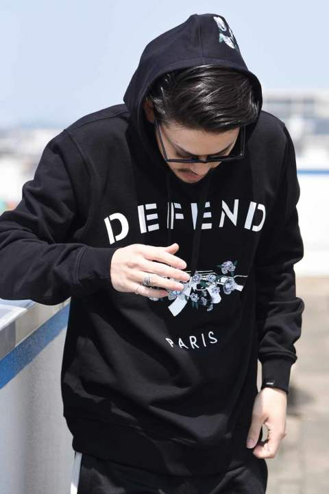 PENZA SEWAT HOODIES EMBROIDERED / フードパーカー ブラック