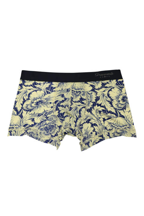 Flower Short Boxer - イエロー