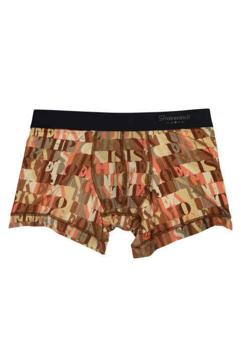 Typo Camou Short Boxer - ブラウン