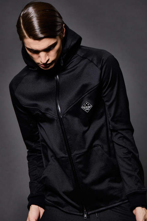 [3D-TECH WEAR] FULL ZIP  PARKA BLACK SWEAT / ジップアップパーカー ブラック