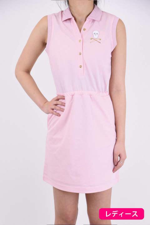 0e286c3f27c0c EDITION POLO DRESS / スキッパー襟ワンピース ピンク レディース