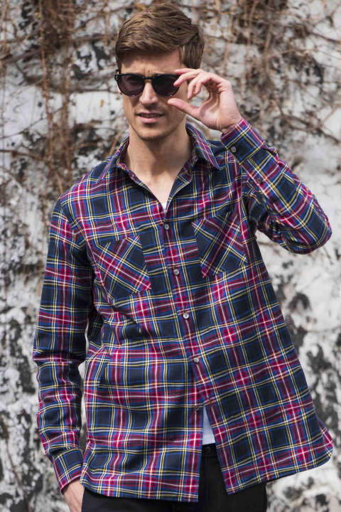 winding check long shirt(6月下旬入荷予定)