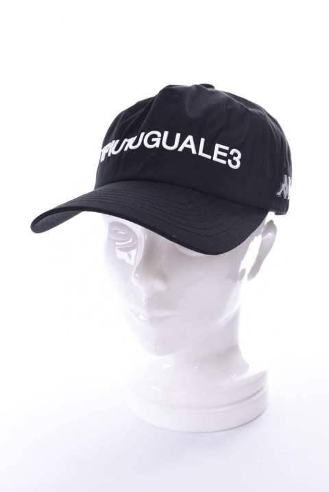 3a0557a8503f1 《1PIU1UGUALE3 RELAX×Kappa》 113 LOGO CAP / プリントロゴ キャップ ブラック『LEON6月号P257掲載商品』