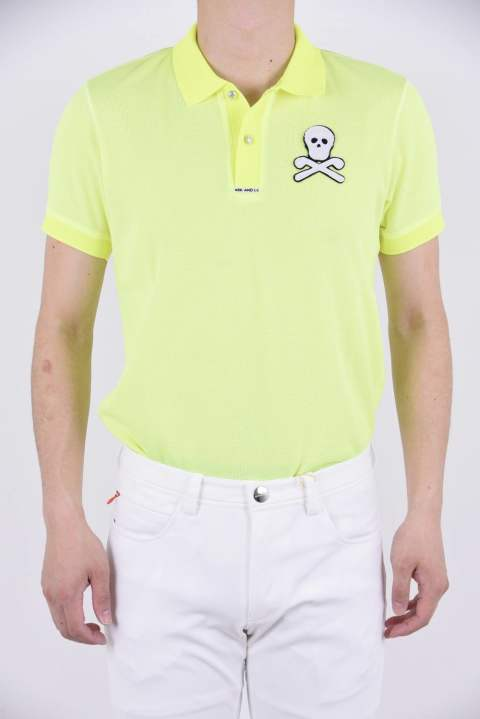 DORMIE POLO / ポリエステルスパン ロゴテープ ポロシャツ イエロー