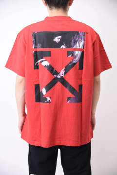 CARAVAGGIO ARROWS S/S OVER T-SHIRT / アートプリント アローロゴ オーバーサイズ 半袖Tシャツ レッド